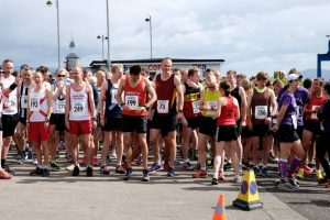 Runners at the start line