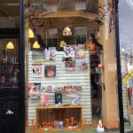 Halloween window display at Bookpoint Dunoon,